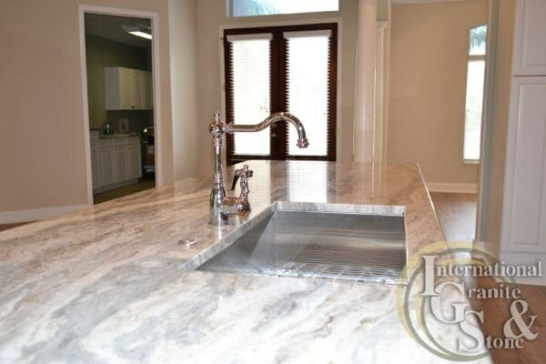 Brown Fantasy Quartzite Countertops undermount sink square