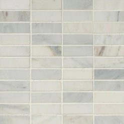 Arabescato Carrara 1x3 Honed In 12x12 Mesh