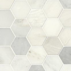 Greecian White 3inch Hexagon PolishedGreecian White 3inch Hexagon Polished
