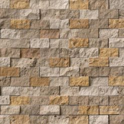 Mixed Travertine 1x2 Split Face