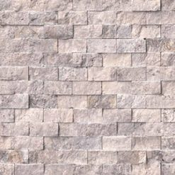 Silver Travertine 1x2 Split Face