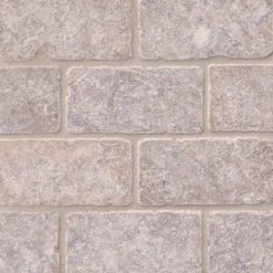 Silver Travertine Subway Tile Tumbled 3x6