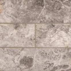 Tundra Gray Marble Subway Tile 4x12