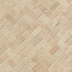 Tuscany Ivory Herringbone Honed