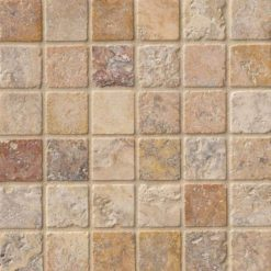 Tuscany Scabas 2x2 Tumbled In 12x12 Mesh