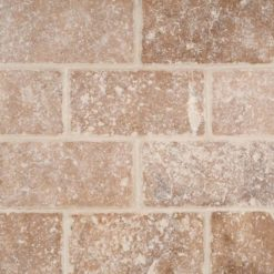Tuscany Walnut Subway Tumbled Tile 3x6