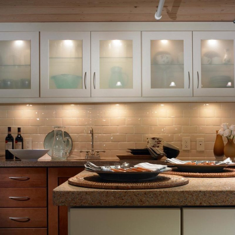 under cabinetry led lighting tile backsplash subway tile granite countertops quartz countertops