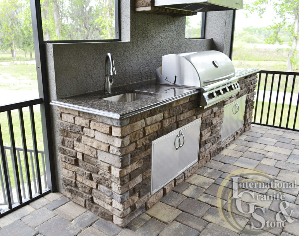 Baltic Brown Outdoor Kitchen Lakeland Orlando Fl blaze grill stainless steel
