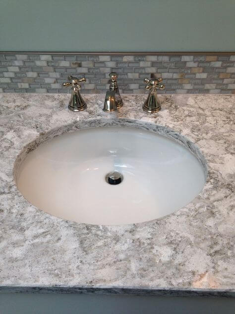Pictures Of Cambria Berwyn Quartz Installed In Bathrooms