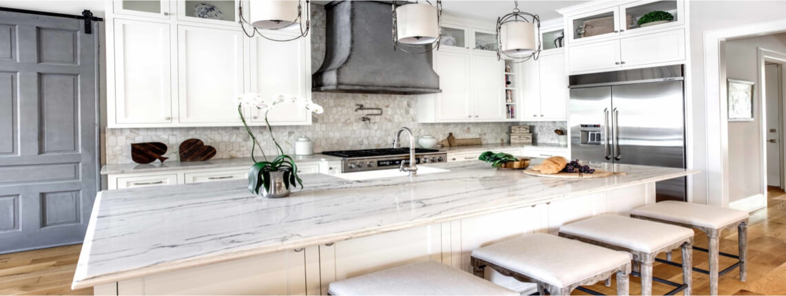 White Macaubas Quartzite Countertops in Tampa Florida